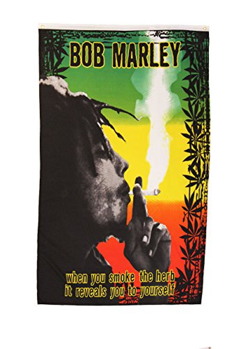 WHEN YOU SMOKE.. Bob Marley 3' x 5' Feet Picture Banner Flag .. .. New - Bob Marley Flags