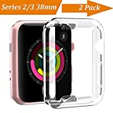 Luka Tech Apple Watch 3 Case Buit in TPU Screen Protector All-around Protective Case High Defination Clear Ultra-Thin Cover for Apple watch 38 mm Series 3 / 2(2 Pack,Clear,not water resistant)