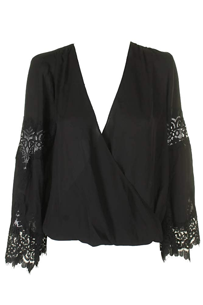 I-N-C Womens Lace Knit Blouse
