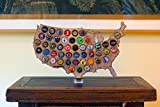 Desktop USA Beer Cap Map with Acrylic and Wood Stand offers