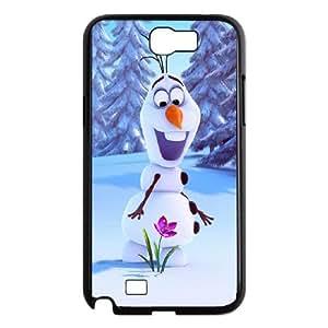Samsung Galaxy N2 7100 Cell Phone Case Black_Olaf Frozen_001 Pgvhc