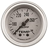 "Auto Meter (2335) Silver 2-1/16"" Temperature Gauge with Panel"