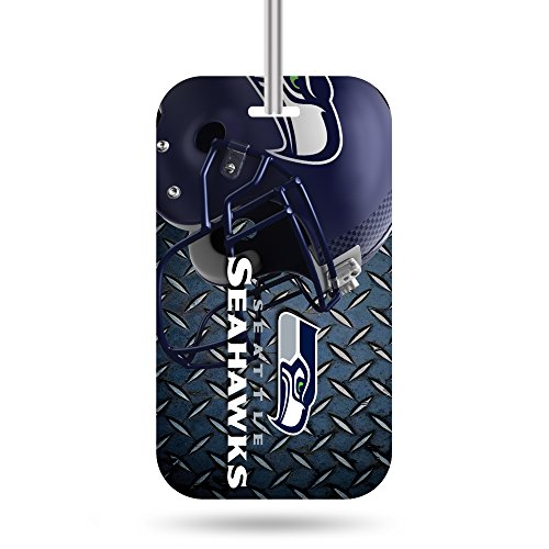 NFL Seattle Seahawks  Crystal View Team Luggage Tag, Steel Blue, 7.5-inches by 3-inches by (Seattle Seahawks Team Fan)