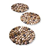 Limestone Rock Stepping Stones - Set Of 3