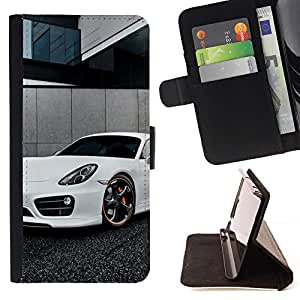 Momo Phone Case / Flip Funda de Cuero Case Cover - Blanca Panamera;;;;;;;; - HTC One M9