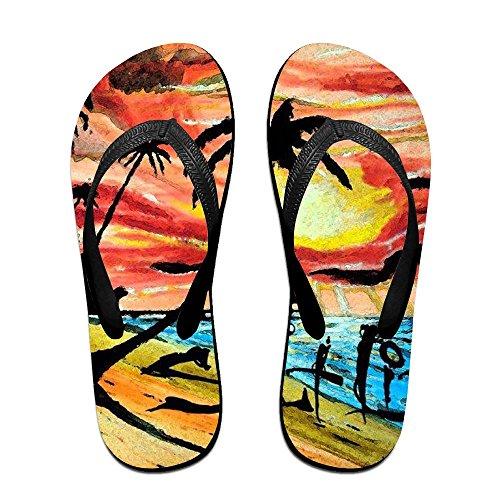For Flip Women Life Kids Slippers PTJHKET Beach Black Men Flops XvwFnBxpR