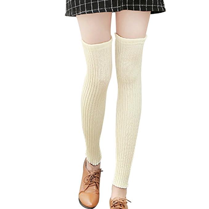 4d64651471d Women Girls Winter Warm Long Leg Warmers Legging Stocking Boot Socks Soft  Over Knee High Legging