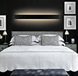 LEDIARY 30W 91CM Black Contemporary Style Led Mirror Light Wall Lighting for Bathroon,Bedroom,Living Room,Cool White,150 LED SMD 2835