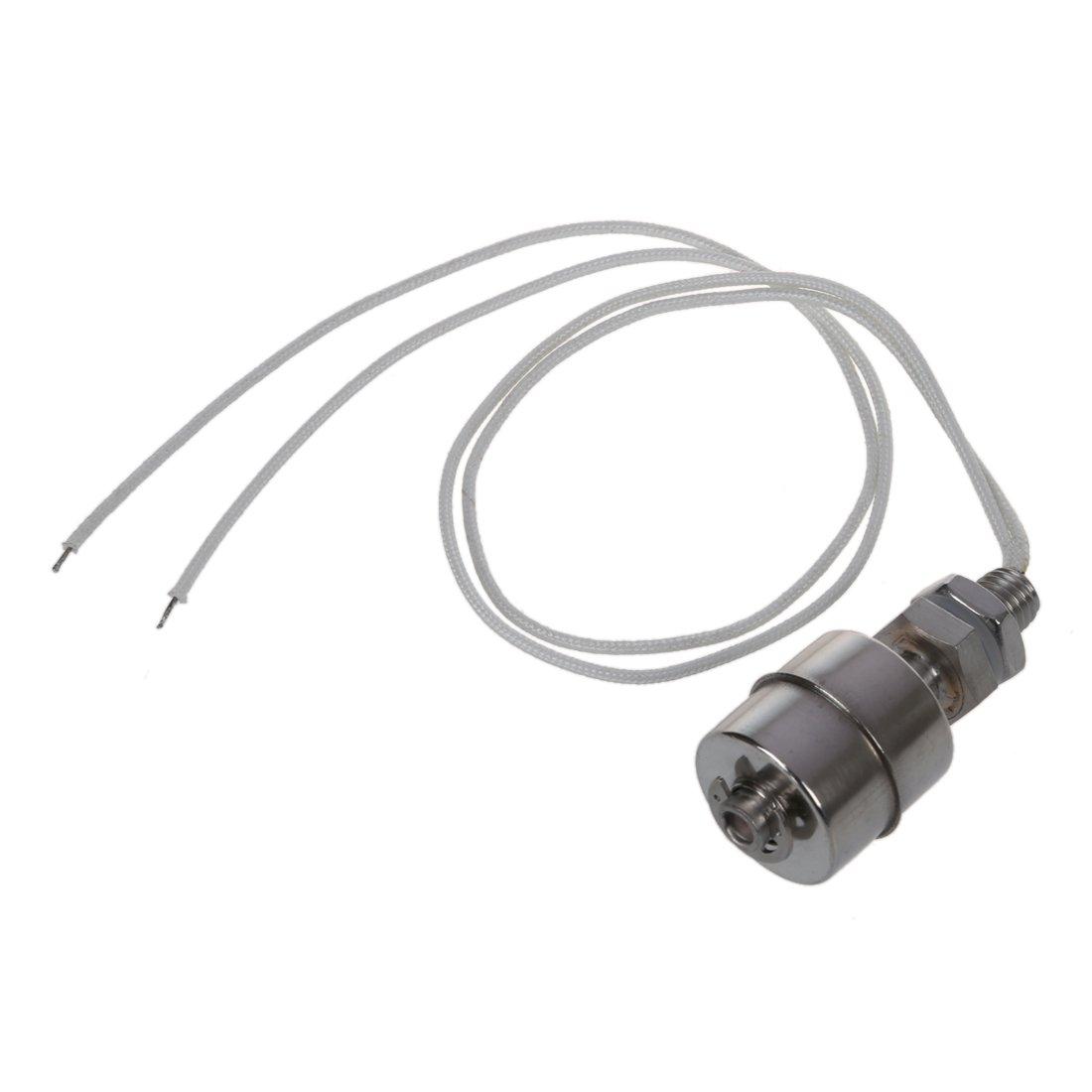 SODIAL(R) Interruptor de flotador horizontal del nivel de agua liquido del sensor del tanque de acero inoxidable