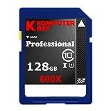 Komputerbay 128GB SDXC Secure Digital Extended Capacity Speed Class 10 600X UHS-I Ultra High Speed Flash Memory Card 60MB/s Write 90MB/s Read 128 GB