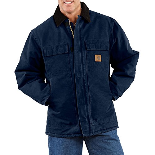 Carhartt Men's Arctic Quilt Lined Sandstone Traditional Coat C26,Midnight,Medium (Quilt Day)
