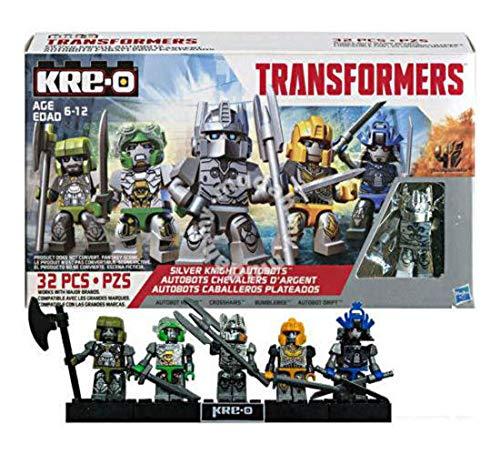 Crosshairs Bumblebee Drift Hasbro Kre-O Transformers Silver Knight Autobots 5 Kreon Set Silver Knight Optimus Prime Hound