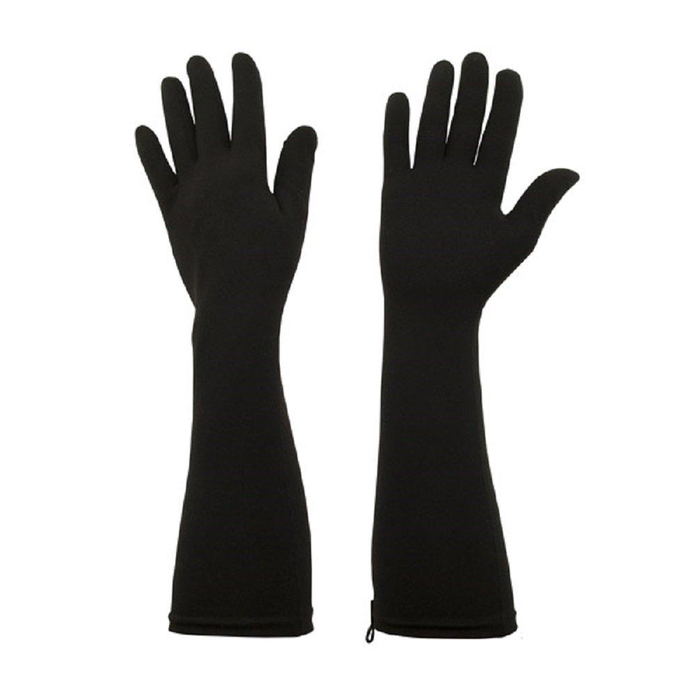 Foxgloves Elle Gloves (Crow Black, Large)