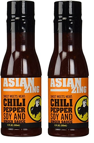 Buffalo Wild Wings Barbecue Sauces, Spices, Seasonings and Rubs For: Meat, Ribs, Rib, Chicken, Pork, Steak, Wings, Turkey, Barbecue, Smoker, Crock-Pot, Oven (Asian Zing, (2) Pack) ()