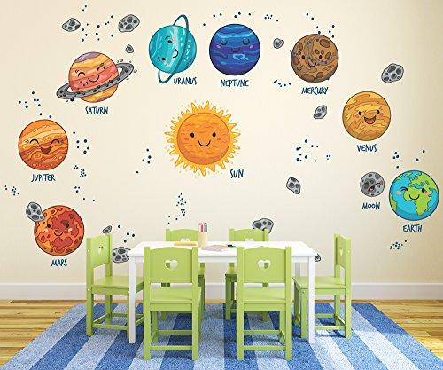 Go Go Dragon - Large Kids Solar System Wall Decals for Nursery - DASHWD10004-40-B by Go Go Dragon