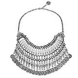 MJartoria Ethnic Boho Gypsy Antique Silver Color