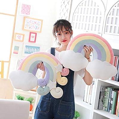 Rainbow Star Moon Pillow Plush Stuffed Toy Cushion Soft Sofa Cloud Cushion: Home & Kitchen
