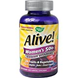 Nature's Way Alive! – Women's 50+ Gummy Multi-Vitamins – 75 Chewables by Nature's Way