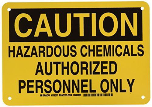 (Brady 126007 Chemical and Hazard Sign, Legend