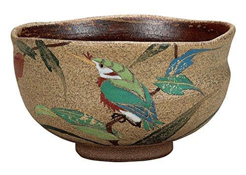 Kutani Yaki Jade Pottery 5inch Matcha Bowl by Watou.asia