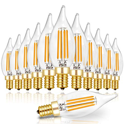 Top 10 best led candle light bulbs dimmable daylight 2020