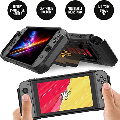 RevoGuard Slim Heavy Duty Switch Case [Stores 5 Games] Compact Multi Angle Holder Play Stand for Nintendo Switch 2