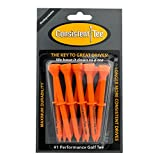 Consistent Tee 3 1/4' Pack of 10 Durable, Biodegradable Tees for Perfect Height and Position (Orange)