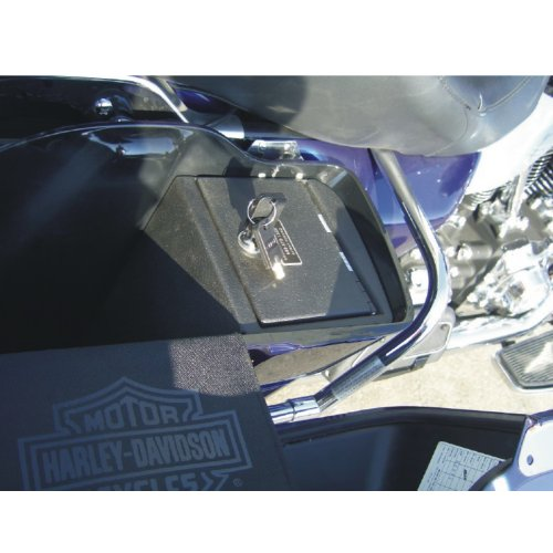 Console Vault Harley Davidson Bagger Vault - 1016 - Massive 12 Gauge Cold Rolled Plate Steel, Welded Tab And Notch Seams - Superior 3 Point Locking System Resists Prying - Drill Resistant Locks - Easy 10 Minute Installation Bagger Gauges