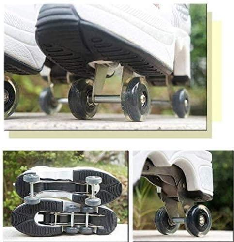 XLYAN 2 in 1 Multi-Function Inline Skates Multi-Function Deformation Skating Roller Skates Adjustable Hiking Shoes Outdoor Skating