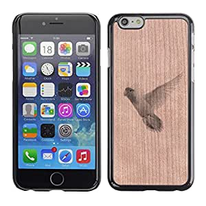 - / Parrot Bird Flying Nature Animal - - Funda Delgada Cubierta Case Cover de Madera / FOR Apple iPhone 6 6S Plus 5.5 / Jordan Colourful Shop/
