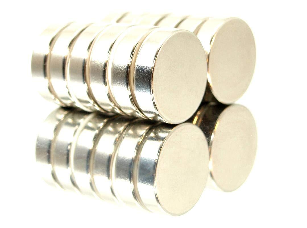 20 Power Magnete 10x3 mm Neodym f/ür Pinnwand Werkstatt Super stark!!