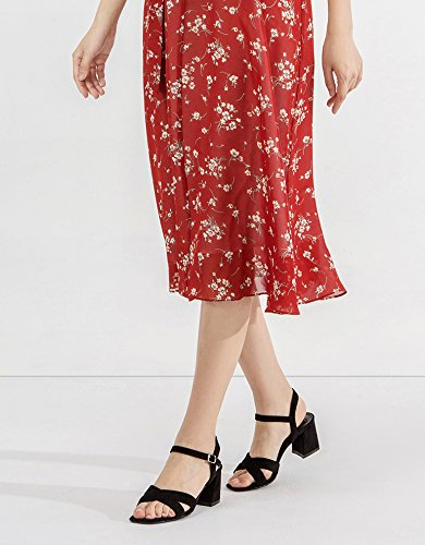 Pantofole basso Tacchi a donna Sandali piatti alti tacco tacco alla Nero casual da moda Sandali DHG 34 Sandali con basso estivi gOfwqWOE