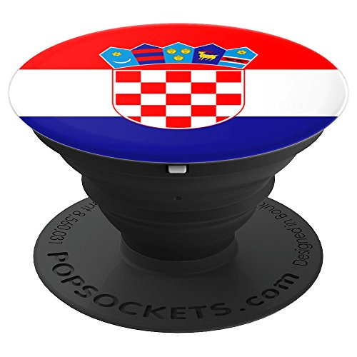 - Croatia Croatian Flag - PopSockets Grip and Stand for Phones and Tablets