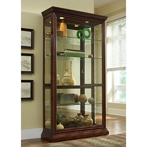 Pulaski Two Way Sliding Door Curio, 43 by 16 by 80-Inch (Cabinet 2 Pulaski Door)