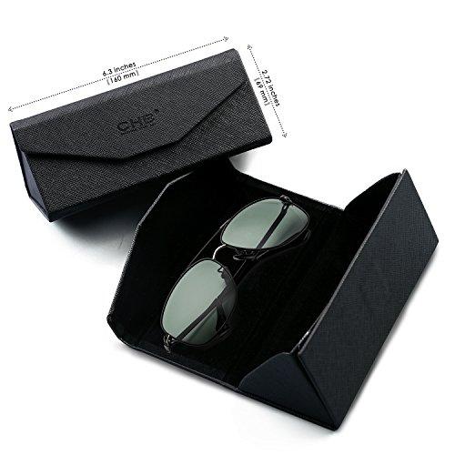 Hacer Para CHB Gafas Ligeras Con de Aviador Sol Metal Estuche Protección 400 Gafas UV Hombres de Marco Ejercicio Polarizadas wTapqwg