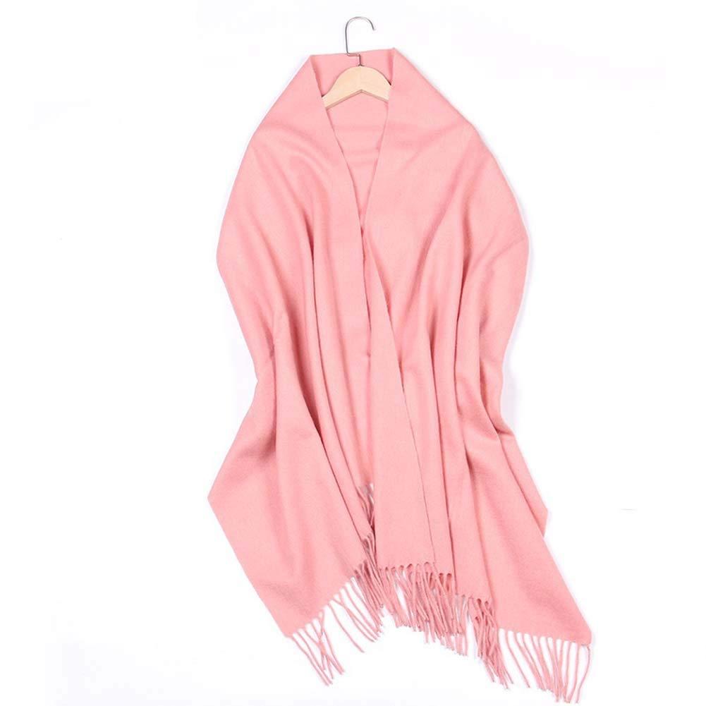 Pink Women Cashmere Shawls Wraps Scarf for Light Soft Fashion Shawl