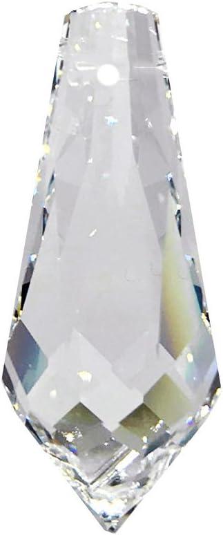 Christoph Palme Leuchten - Gotas de cristal Strass de Swarovski L Colgante de 38 mm con lágrima de cristal arco iris Feng Shui de gran brillo, juego de 5 unidades 8601