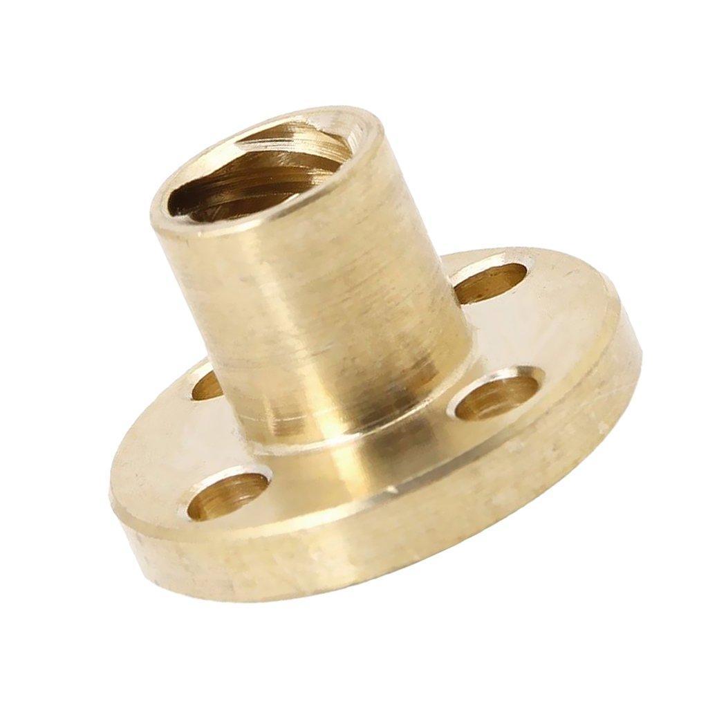 Jili Online 1pc 8mm pitch 8mm Lead Brass Flange Nut /∅8mm 4-Start Screw CNC 3D Z axis