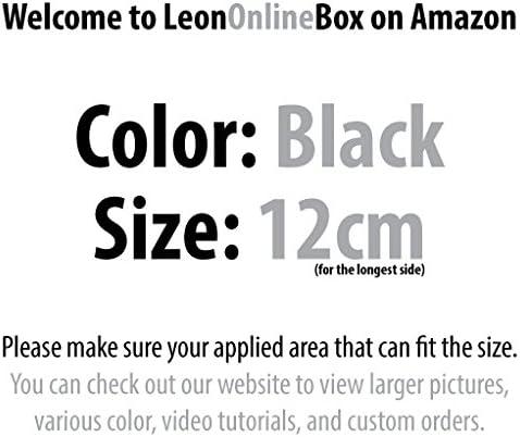 Helmet Sticker for Car Laptop iPad leononlinebox Porco Rosso Head 12cm Black Vinyl Decal