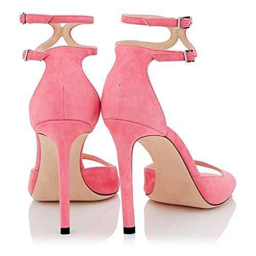 Nuit Club Pink Mode Haut Transgenre Fête De Sexy Soirée Taille 4006 KJJDE Mariage 39 Femme De Sandales La TLJ Plateforme De Grande Talon Boîte Ixzw17