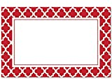 Pack Of 50, Geo Graphics Tiles Red Enclosure Card 3-1/2'' x 2-1/4'' Made In USA
