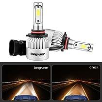 Longruner 2PCS LED Headlight Bulbs, S2 Series 9006 HB4 LED Headlight Conversion Kit, Low Beam Headlamp, FogDriving Light, Halogen Head light Replacement, 6000K 8000 Lumens Xenon White LV11 (S2)