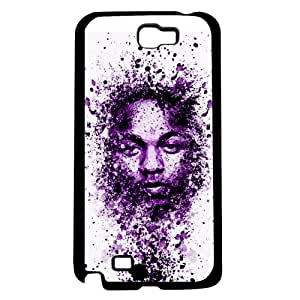 Purple Paint Splatter Art of Famous Celebrity Rapper Hard Snap on Phone Case (Note 2 II)