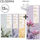 #10: CELDERMA Korean Mask Sheet Pack - 12 Premium Face Masks For Cleansing, Exfoliating, Moisturizing with Lotus Extract and Jojoba Seed Oil