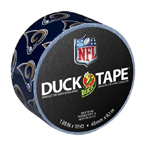 Duck Brand Printed Duct Tape, Los Angeles Rams NFL, 1.88 Inches x 10 Yards, Single ()