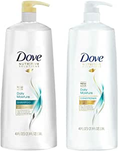 (1 Pk (1180ml Combo), Daily Moisture 2in1) - Dove Daily Moisture, Shampoo and Conditioner Combo Set, 1180ml Pump Bottles
