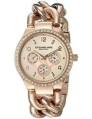 Stuhrling Original Women's 813S.04 Vogue Renoir Analog Display Quartz Rose Gold Watch