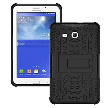 Skytar Samsung Galaxy Tab 3 Lite 7.0 Funda,2IN1 Hybrid Armor Design Carcasa de Policarbonato Duro + TPU Silicona Case Cover Funda para Samsung Galaxy ...