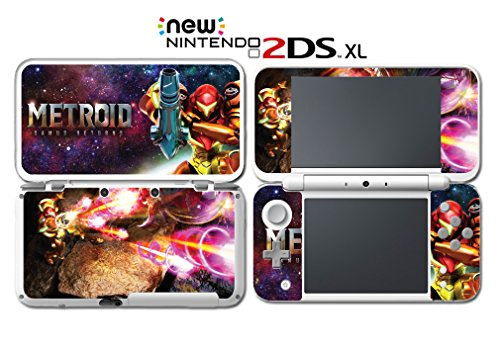 Metroid Samus Returns Aran Fusion Suit Zero Video Game Vinyl Decal Skin Sticker Cover For Nintendo New 2Ds Xl System Console
