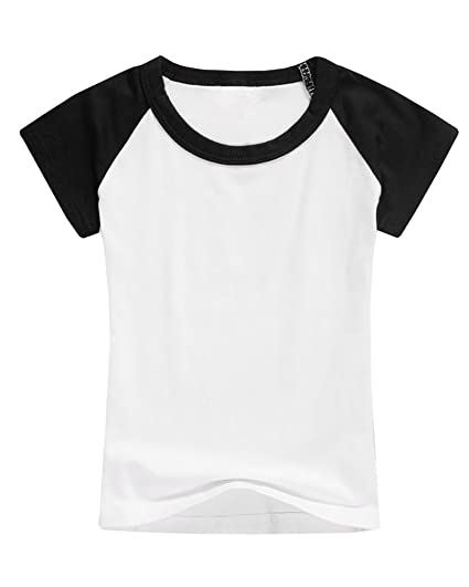 93d6d6c0 Boys' Baseball Tee Girls' Raglan Short Sleeve Jersey T Shirts Unisex Baby  Kid Tops